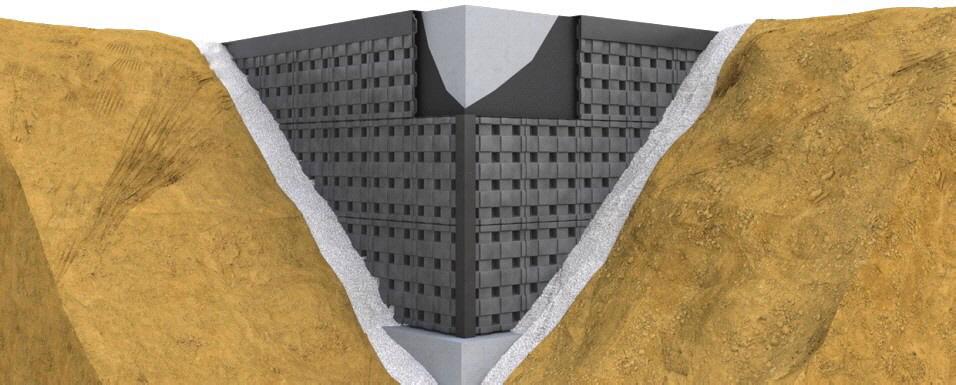 Skizze der Anbringung des DEFENDER Wandschutz-Elemente