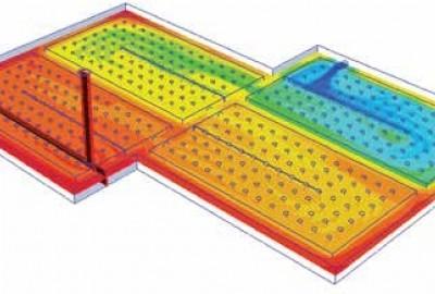 Anordnung der Belüftungsrohre für Radon Gas