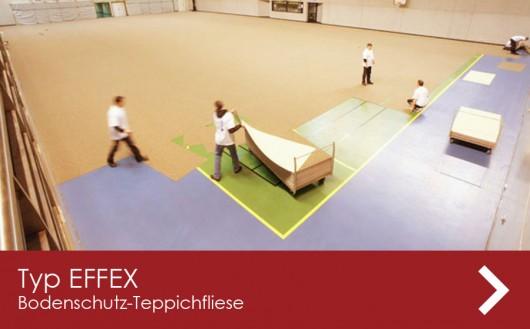 Sporthallenboden schützen mit Teppichfliesen bei Events