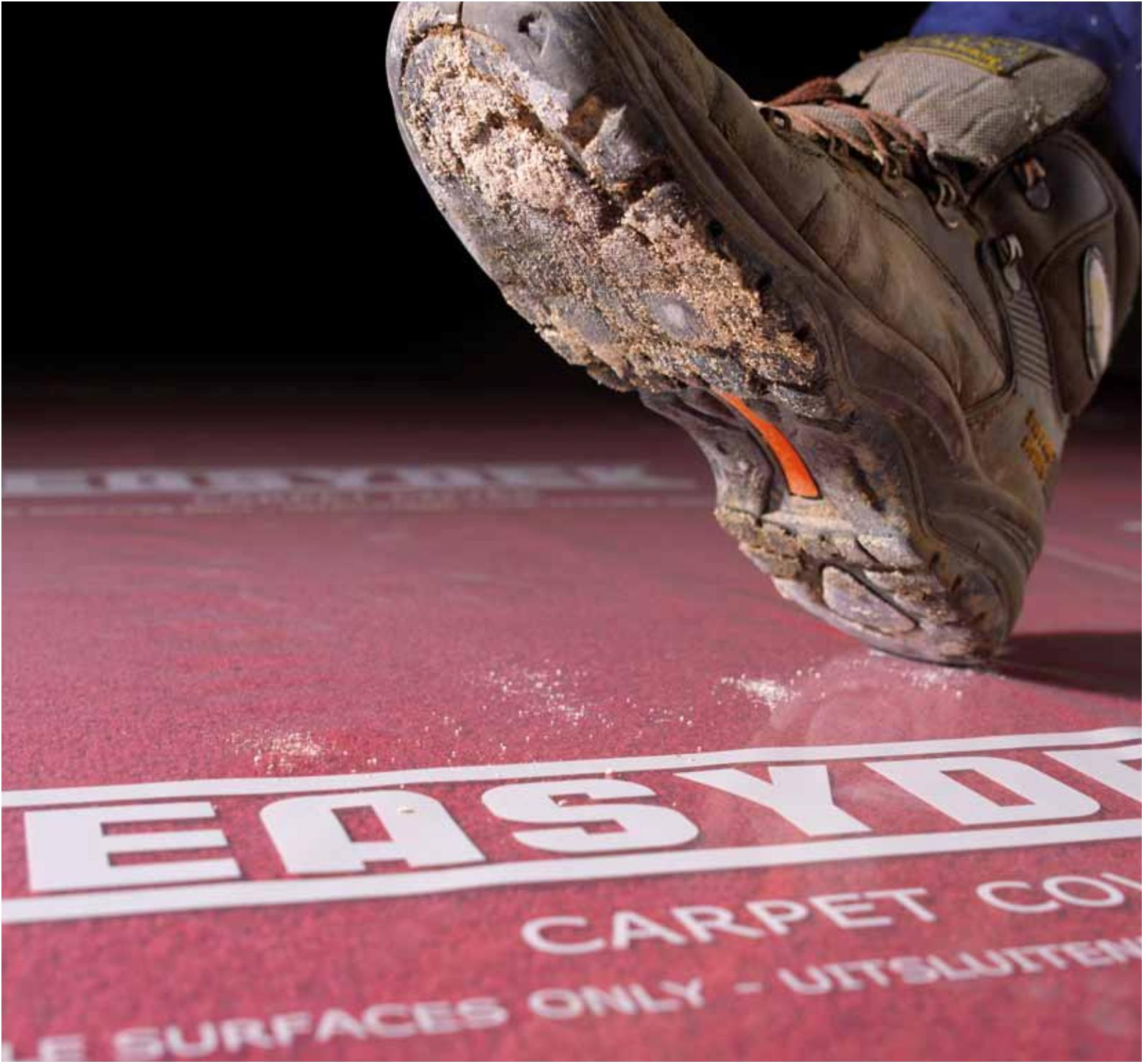 Carpet Cover Bodenschutz auf Teppich-Böden