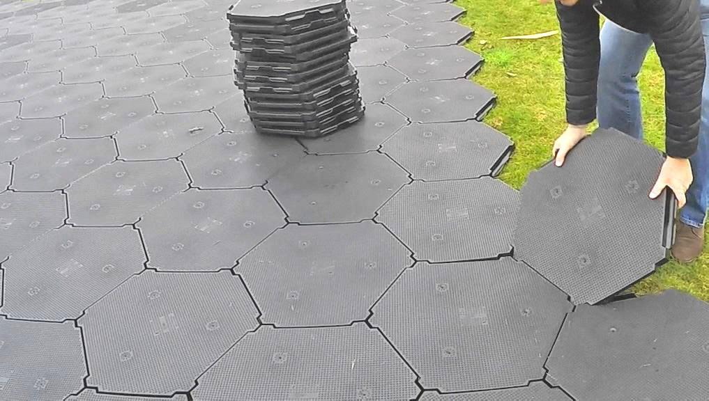 Solid Basic Kunststoff Schutzplatten Naturboden